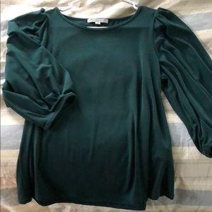 Dark green dress shirt